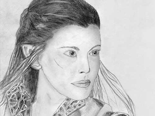 Arwen kresba tužkou