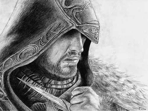 Ezio kresba tužkou
